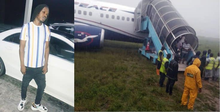 Air Peace: Naira Marley narrowly escapes plane mishap