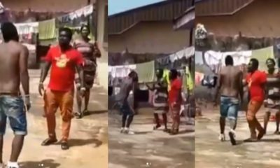 Nigerian man returns home to discover his sister didn't build any house (Video)