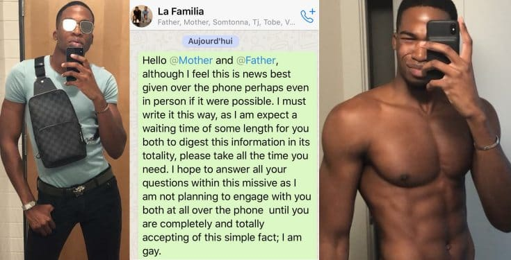 Nigerian man shocks parents as he proudly comes out as gay
