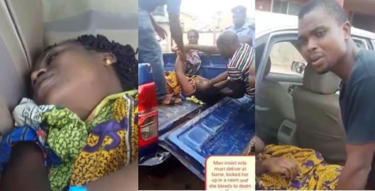 Nigerian man watch pregnant wife bleed to death in Ebonyi(Video)