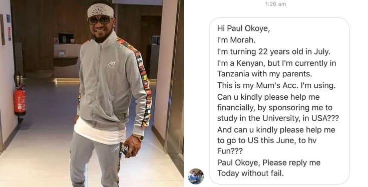 Paul Okoye shares screenshots of death threats he received from a Kenyan woman