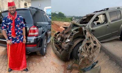 Pete Edochie's son, Yul escapes death after car crash