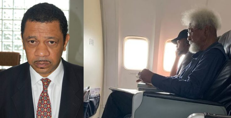 Prof. Wole Soyinka's son reacts to man who refused to give up his seat