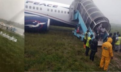 Tragedy averted as Air Peace plane overshoots runway In Rivers (video)