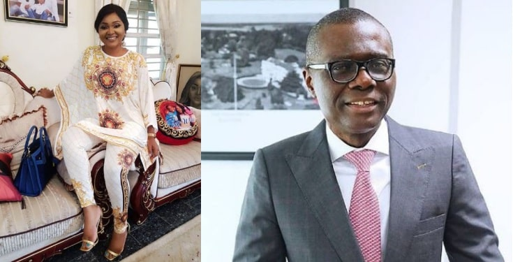 Trolls drag Mercy Aigbe for trying to 'flirt' with Sanwo-olu