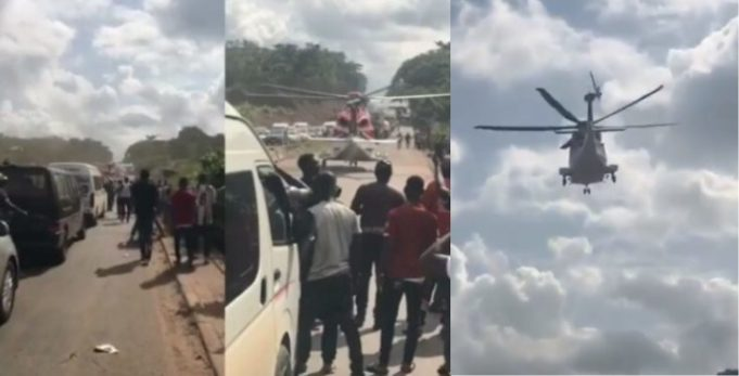 Update Helicopter on Benin-Ore road 'picked up stroke victim' not a 'big boy'