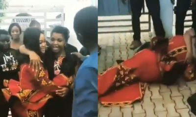 Woman overjoyed as her hubby invites actress Rachael Okonkwo to her birthday (video)