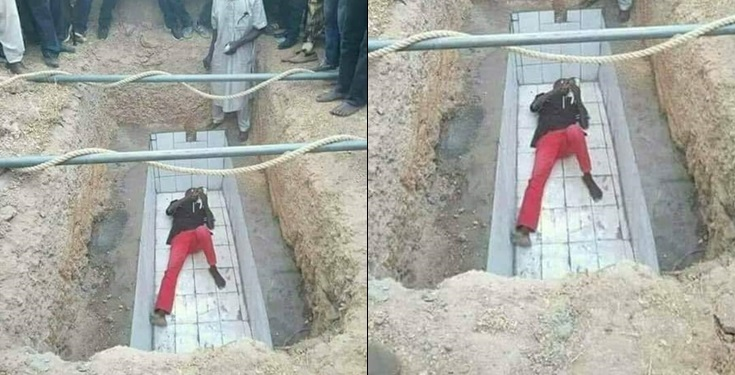 Man Laid On A Grave He Dug Due To Incomplete Payment