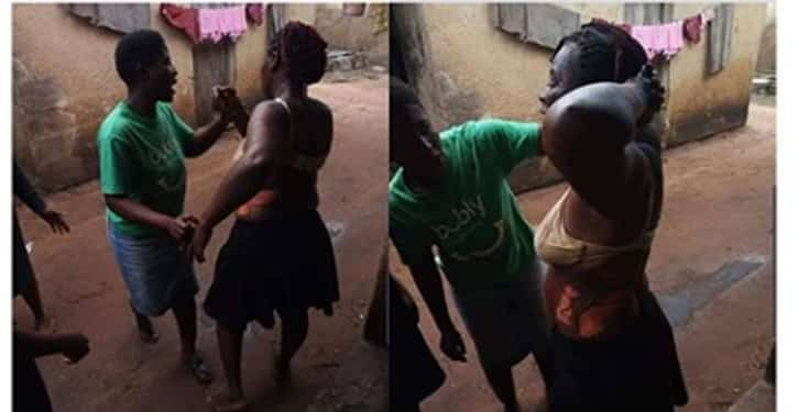 Lady begs for husband's pardon after he scalded her with hot soup