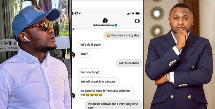 Ubi Franklin set to break celibacy of lady