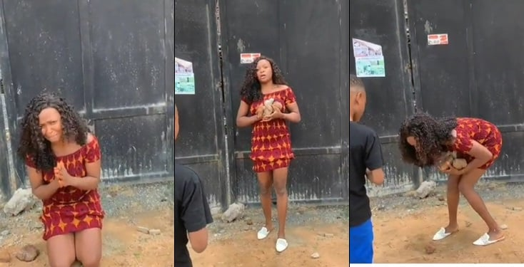 Blessing Okoro joins other Nigerians to mock herself in viral video
