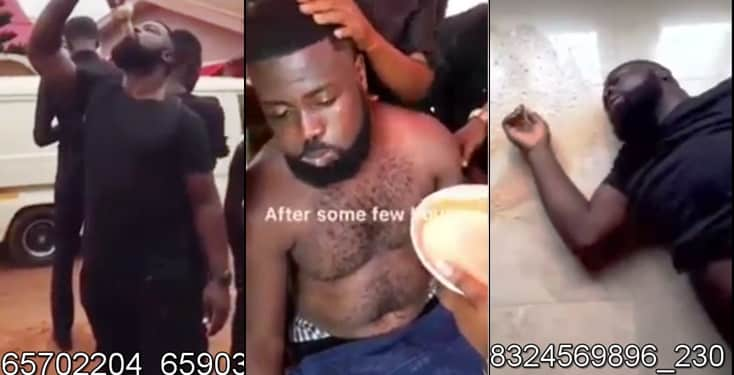 Man Battles For Life After Bragging That He Can Finish 6 Bottles Of 42% Acholohic Drink (Video)