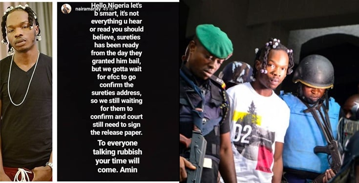 Naira Marley's management reacts to reports about the singer