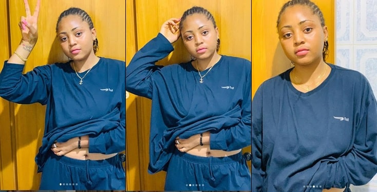 Regina Daniels Shuts Down Pregnancy Rumours With  Photos