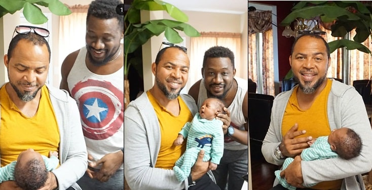 Ramsey Nouah Pays Surprise Visit To Colleague Daniel K Daniel And Family
