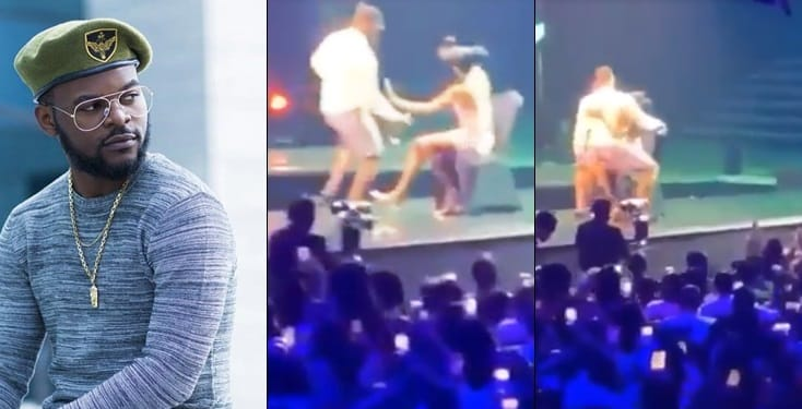 Falz yanks off his trouser as he seduces lady on stage during his concert
