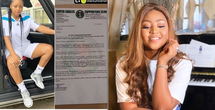 Regina Daniels Appointed Youth Ambassador Of Super Eagles Supporters Club