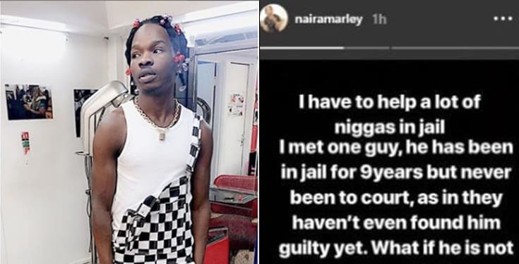 Naira Marley vows to help wrongly accused 'n**gas in jail'