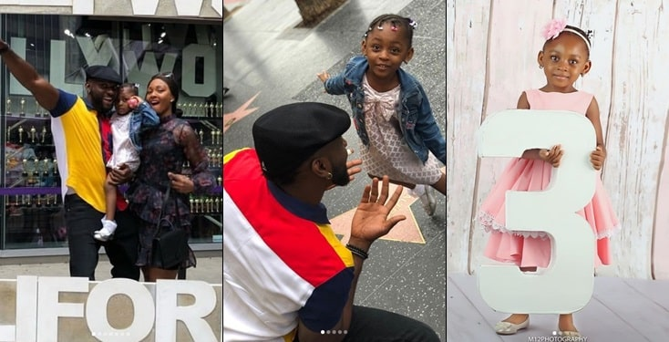 Osas Ighodaro & Gbenro Reunite In The US For Their Daughter's 3rd Birthday