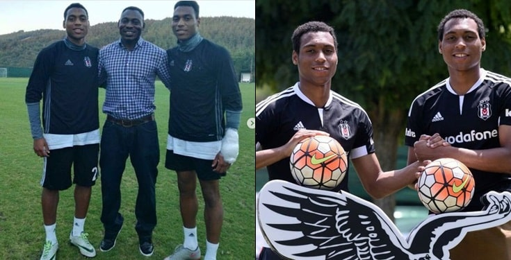 Daniel Omokachi celebrates his twin sons as they turn a year older today