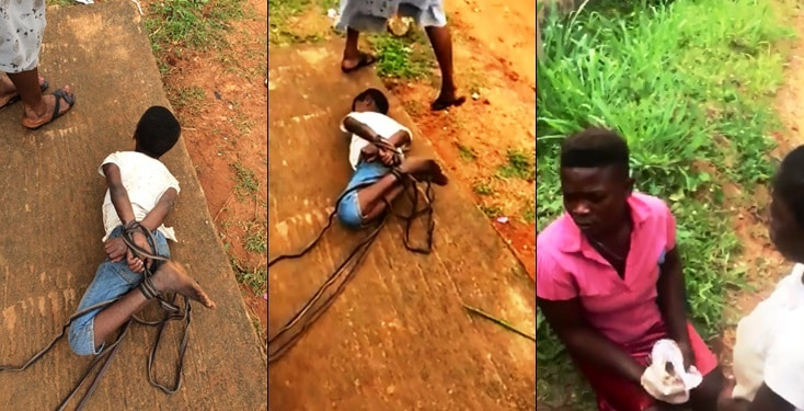 Mom ties up daughter for not sweeping in Anambra State