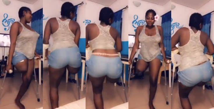 Amputated lady twerks to Beyonce and Wizkid's 'Brown Skin Girl Song' (video)
