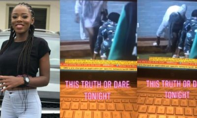 BBNaija 2019: Diane removes her panties before other housemates (video)