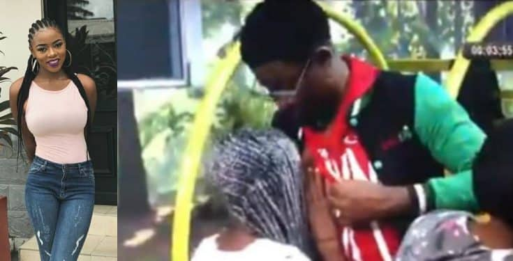 BBNaija 2019: Diane seen sucking Seyi's nipple (Video)