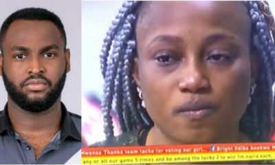 BBNaija 2019: Esther in tears after Nelson got evicted (Video)