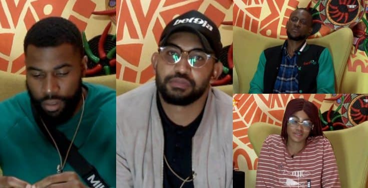 BBNaija 2019: Mike, Jeff, Omashola, and Tacha nominated for eviction