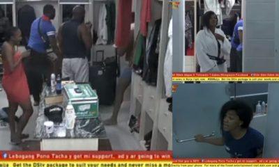 BBNaija 2019: Tacha calls Frodd stupid during early morning bathroom drama [Video]