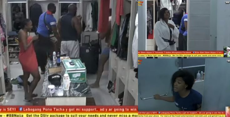 BBNaija 2019: Tacha calls Frodd stupid during early morning bathroom drama (video)
