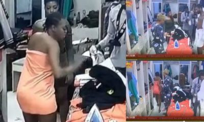 BBNaija 2019: Thelma and Omashola fight after he barged into the bathroom (video)