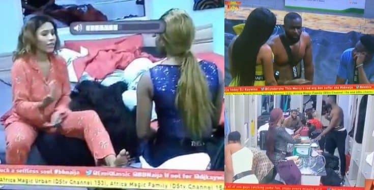 BBNaija Mercy and Gedoni fight after he recorded a drunk Diane (video)