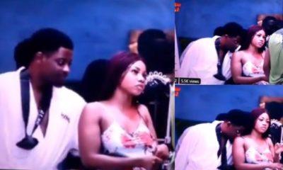 BBNaija: Seyi seen flirting with Tacha as he sniffs her body (video)