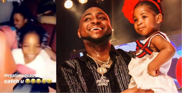 Davido's daughter epic response after she was asked about her daddy's occupation (video)