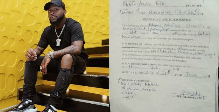 Davido Dragged To Court Over Alleged ₦4,000,000 Fraud