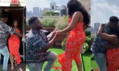 Davido's brother, Adewale proposes to his girlfriend, Kani (video)