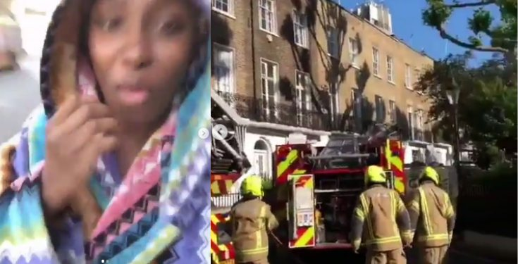 Femi Otedola's wife and daughter escape fire incident at their London apartment (video)