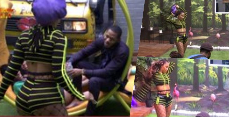 BBNaija 2019: Frodd prays for all male housemates as Mercy flaunts her sexiness (video)