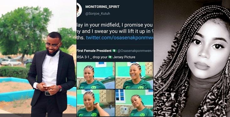 Man Shoots His Shot At lady Using Names Of Footballers
