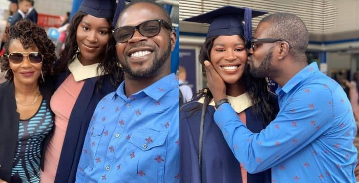 JJC Skillz' daughter graduates from UK university (Photos)