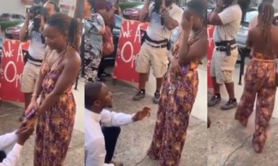 Lady burst into tears as she rejects her boyfriend's proposal (video)