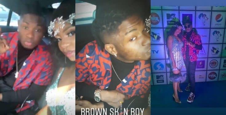 Lil Kesh kisses Iyabo Ojo's daughter, Priscilla to spark up dating rumors (video)