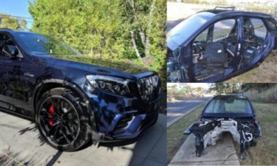 Man shares photos of his car after it was stripped by robbers in 3 hours