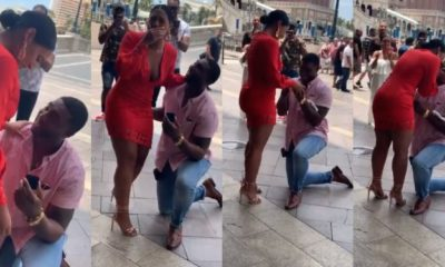 Man proposes to his girlfriend of 11 years (video)