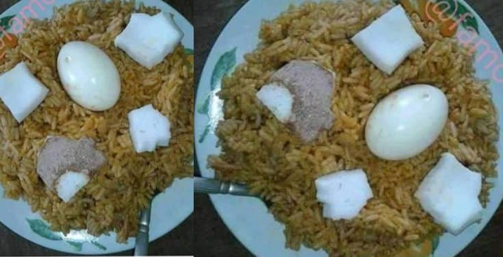 Nigerian lady shows off the coconut rice she made with ₦4,000
