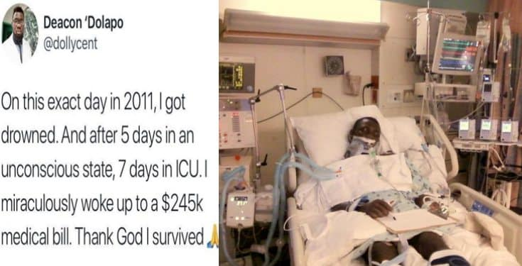 Nigerian man recalls waking up to US hospital bill of $245,000  after 7 days in coma