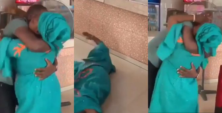 Nigerian mum gets emotional after seeing her son who returned from US (video)