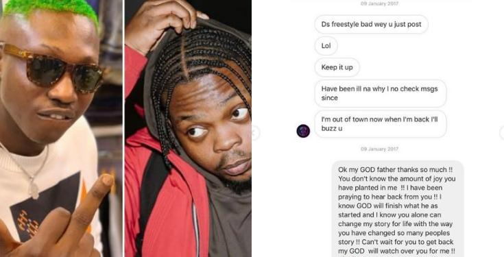 Zlatan shares screenshot of DMs he sent Olamide